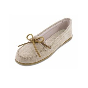 Limited Edition Minnetonka Natural Canvas Moccasin